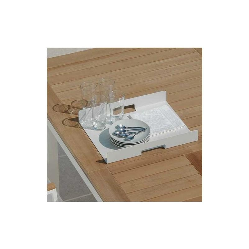 Tavolo pranzo allungabile timber alluminio e teak talenti - Tavolo da pranzo misure ...