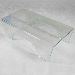 Tavolino in vetro curvato modello Ghoy