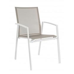 Sedia da esterno con braccioli Cruise by Bizzotto 662232. Alluminio e textilene