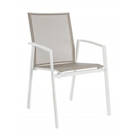 Sedia da esterno cruise by bizzotto in alluminio impilabile for Sedie da esterno