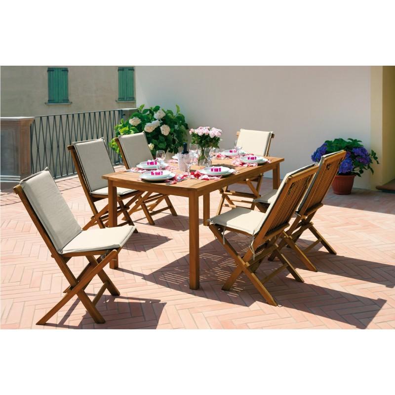 Sedia da esterno salina by greenwood in arredo giardino for Tavolo e sedie da esterno in offerta