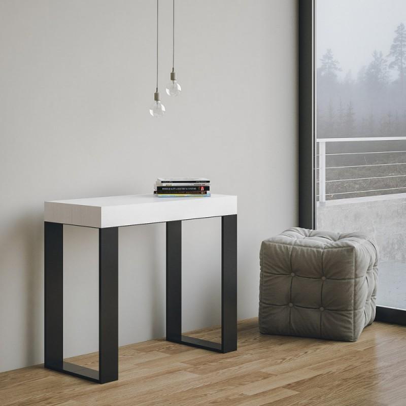 Tavolo consolle allungabile tecno allungabile sino a cm - Tavoli consolle moderni ...