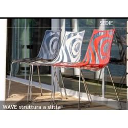 Sedia design Scab Wave a slitta. - Scab Design