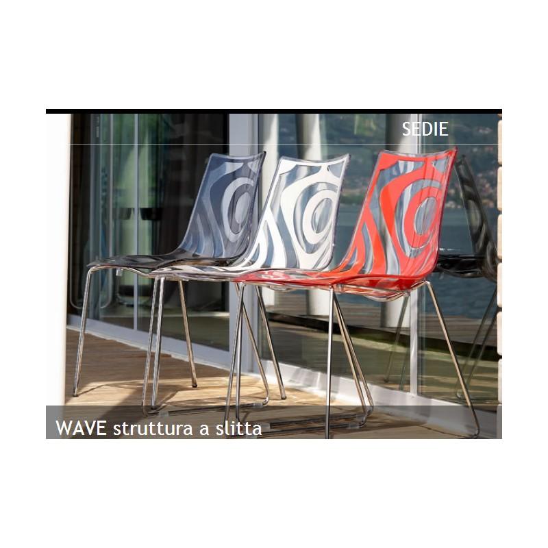 2 sedie design scab wave a slitta scab design miglior for Sedia design srl