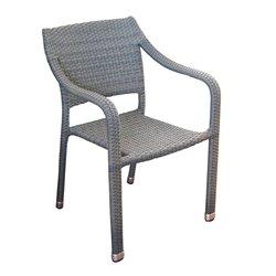 Sedia da esterno con braccioli Malta By Greenwood. Alluminio e rattan sintetico