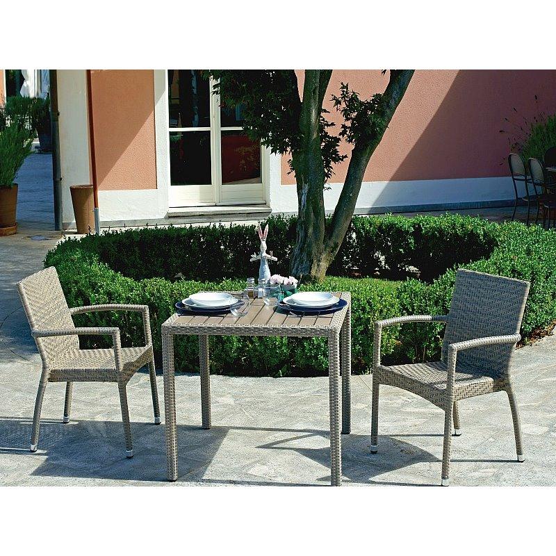 Amazing sedia da esterno con braccioli le havre di greenwood alluminio e rattan sintetico with - Colori da esterno ...