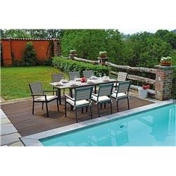 Tavolo da esterno allungabile Riomaggiore by Greenwood in alluminio. Misura 150/210x89