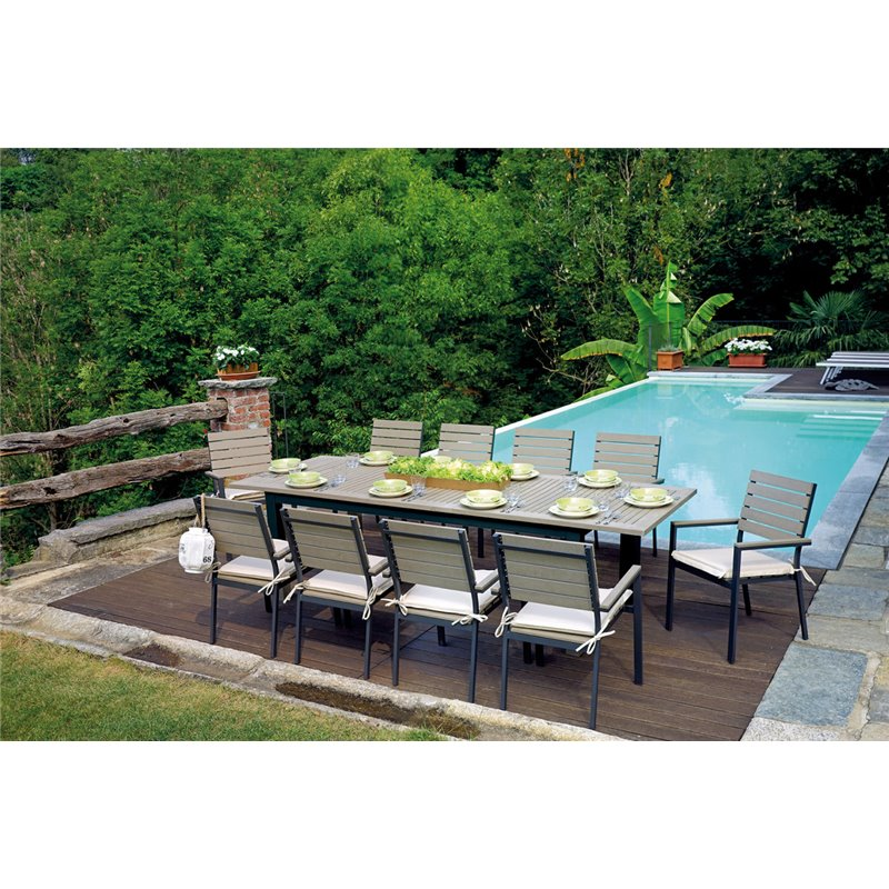 Tavolo da esterno monterosso di greenwood in offerta su for Salottini da esterno offerte
