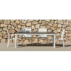 Tavolo da esterno allungabile Carlos by Talenti. Alluminio e polywood