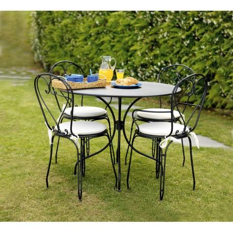Tavolo da giardino rotondo modello baveno in offerta su for Tavolo rotondo esterno