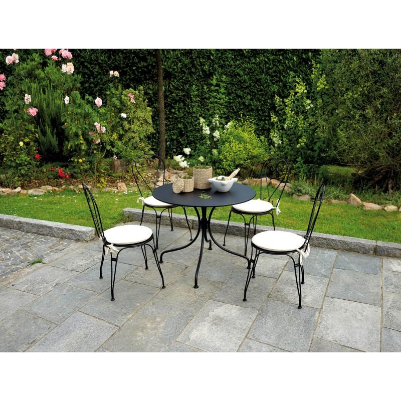 Tavolo da giardino rotondo modello baveno in offerta su for Tavolo rotondo e sedie
