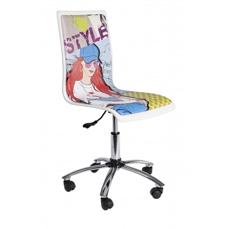 Sedia da ufficio young cartoon by bizzotto al miglior prezzo for Sedie da ufficio milano