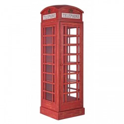 Libreria Cabina telefonica inglese. Red Cabin by Bizzotto