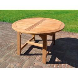 Tavolo da esterno rotondo allungabile in teak Capraia by Greenwood