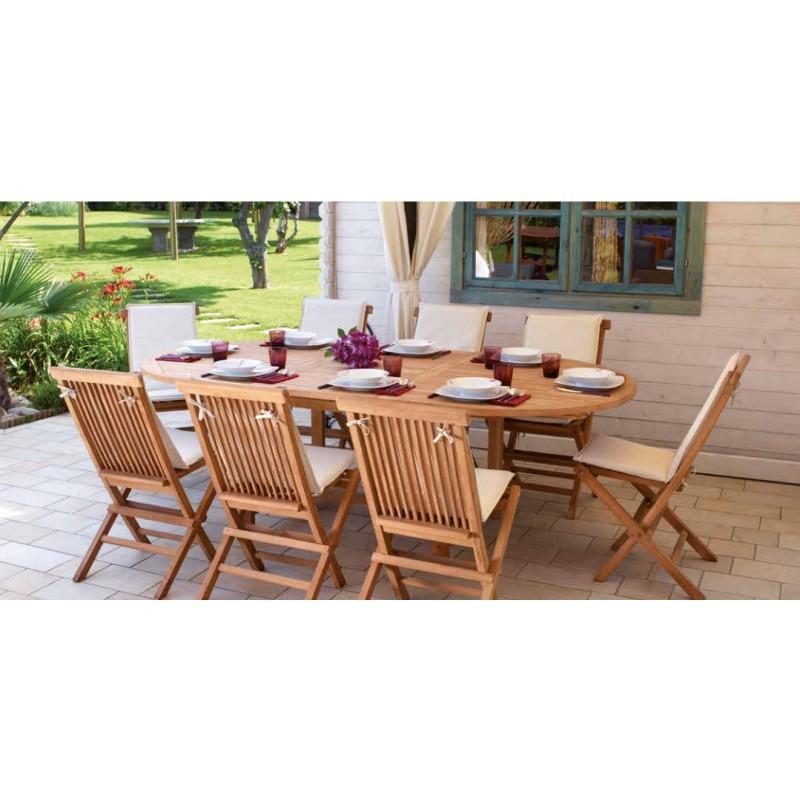 Tavolo da giardino alicudi in teak ovale allungabile by greenwood miglior prezzo su arredocasastore - Tavolo riunioni ovale ikea ...