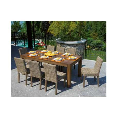 Tavolo da giardino BALI in teak scurito by Greenwood