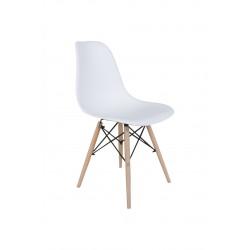 Sedia Pamela in polipropilene e legno di faggio. Disponibile in bianco o nero