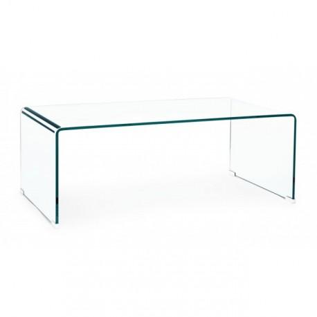 Tavolino in vetro Iride rettangolare by Bizzotto. Vetro spessore mm. 12