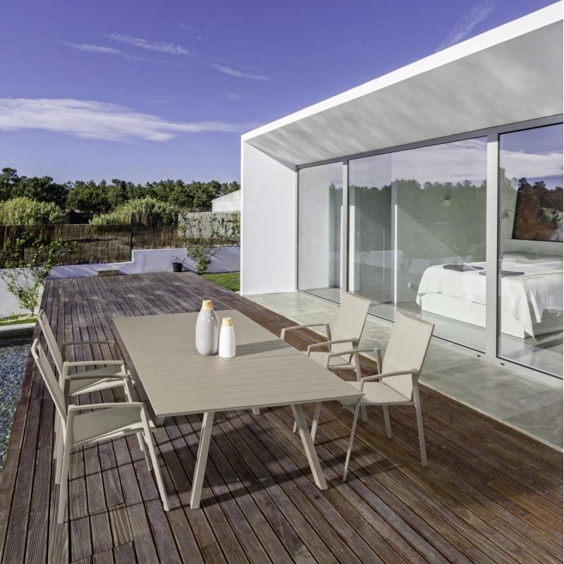 Tavolo da esterno in alluminio allungabile klayton di for Articoli da esterno