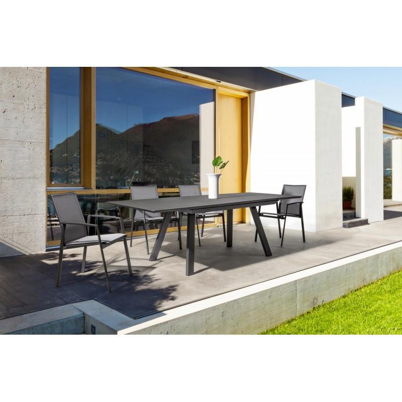 Tavolo da esterno in alluminio allungabile klayton di bizzotto - Colori da esterno ...