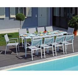 Tavolo da esterno allungabile in alluminio Pietra Ligure di Greenwood.