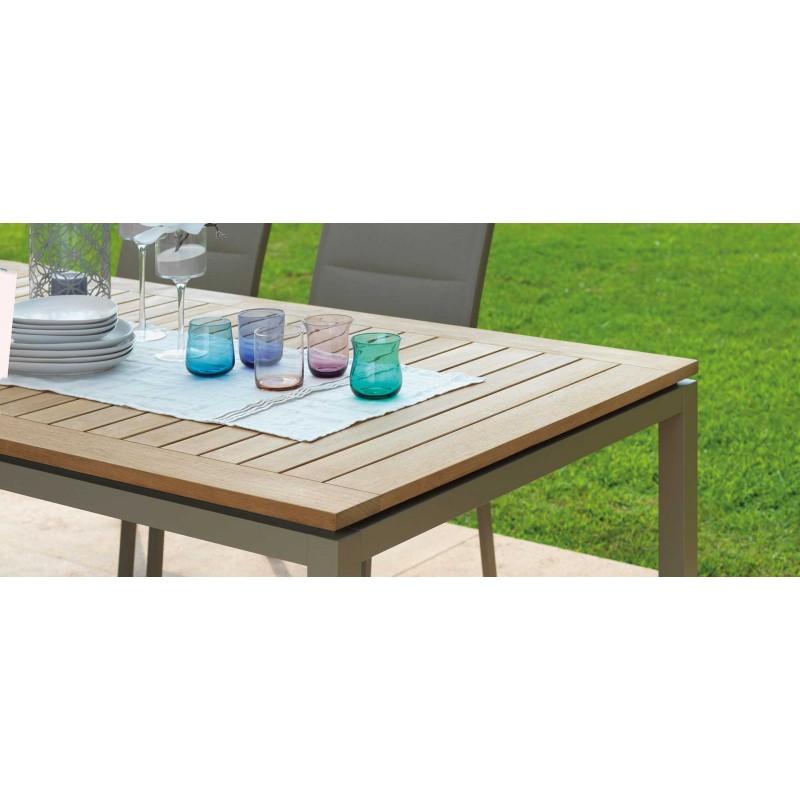 Tavolo pranzo allungabile timber alluminio e teak talenti - Misure tavolo da pranzo ...