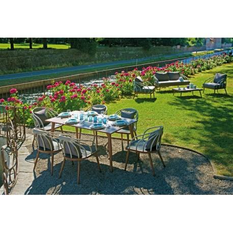 Set tavolo e sedie da giardino imperia di greenwood for Set tavolo e sedie da giardino outlet