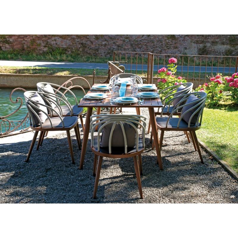 Set tavolo e sedie da giardino imperia di greenwood spedizione gratuita - Tavolo e sedie giardino ...