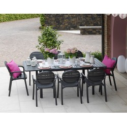 Set da giardino Tavolo Alloro 140 Extensible e sedie Palma di Nardi