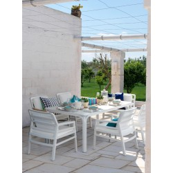 Set da giardino Tavolo Alloro 210 Extensible e sedie Aria di Nardi