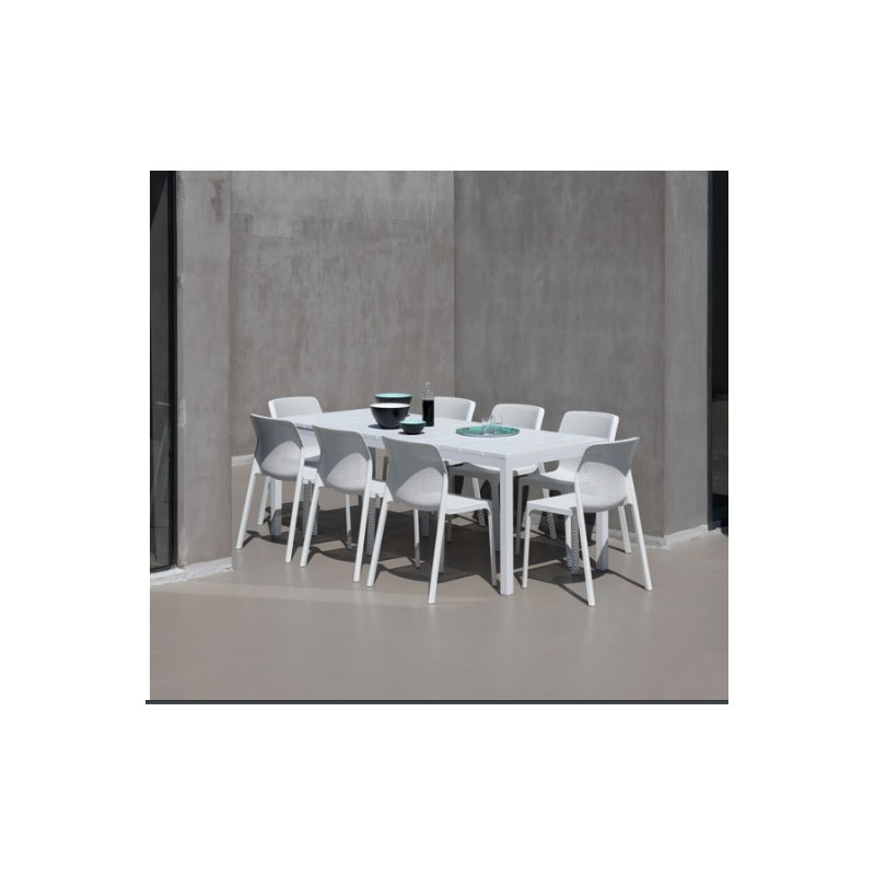 Set da giardino tavolo rio 140 e sedie bit di nardi vari for Tavolo allungabile e sedie