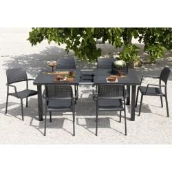 Set da giardino tavolo Levante e sedia Bora di Nardi.