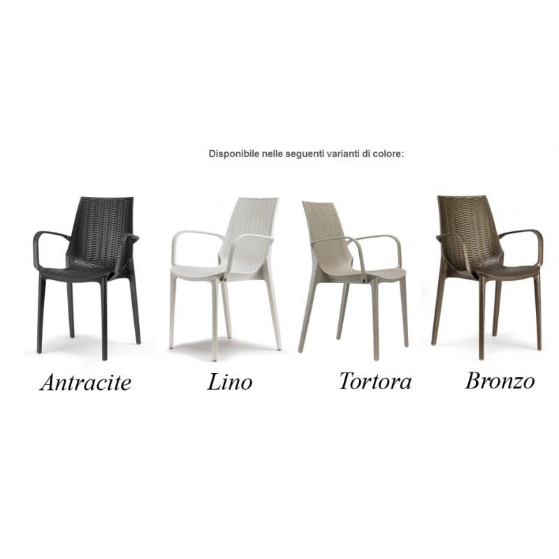 4 sedie con braccioli scab lucrezia scab design miglior for Sedie design con braccioli