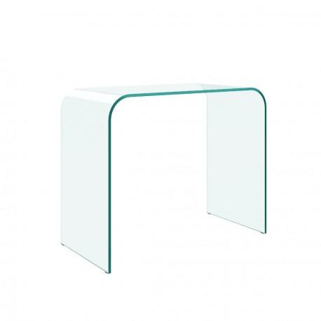 Consolle in vetro curvo Poker. Spessore mm. 12
