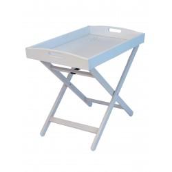 Tavolino - vassoio in massello di faggio modello Zeus di Del Fabbro. Diversi colori