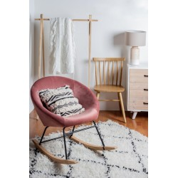 Sedia a dondolo vintage Annika Bizzotto. Rivestimento velluto in 3 colori