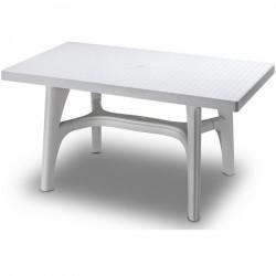 Tavolo da giardino Intrecciato 140x80 in resina by Scab