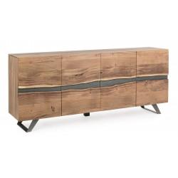 Credenza in legno Aron by Bizzotto. Madia in legno 4 ante