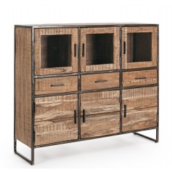 Credenza in legno Elmer by Bizzotto. 6 ante e 3 cassetti