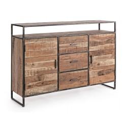 Credenza in legno Elmer by Bizzotto. 2 ante e 3 cassetti
