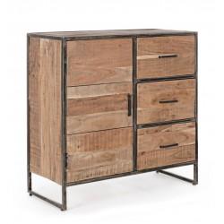 Credenza in legno Elmer by Bizzotto. 1 anta e 3 cassetti.