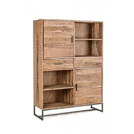 Mobile soggiorno in legno Elmer di Bizzotto. 2 ante e 2 cassetti
