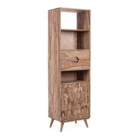 Libreria in legno Shesham Kant by Bizzotto. 1 anta e 2 cassetti