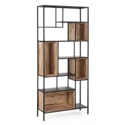 Libreria Regular Wood H170 Acciaio e legno di abete By Bizzotto