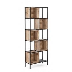 Libreria Regular Wood H158 Acciaio e legno di abete By Bizzotto