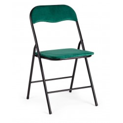 Sedia pieghevole Amal di Bizzotto. Seduta in velluto. 4 colori