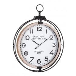 Orologio da parete Ticking di Bizzotto. Acciaio e MDF. Mod. Q83 62X79