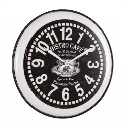 Orologio da parete di Bizzotto. Acciaio e Applicazioni carta stampata. Mod. Bistro' D62.