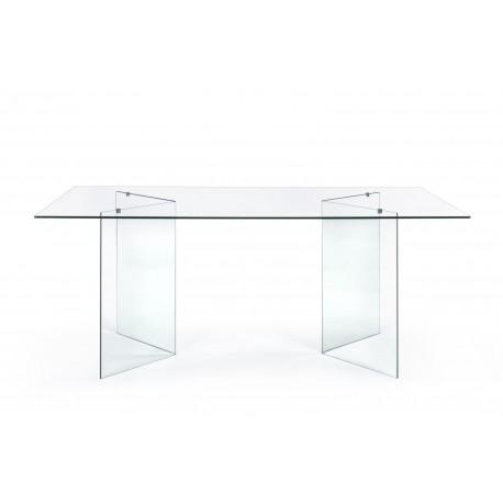Tavolo in vetro rettangolare Iride by Bizzotto. Dimensioni 180x90