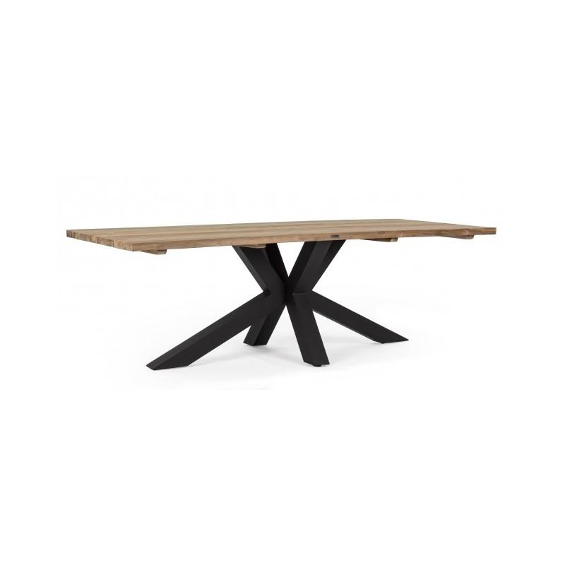tavolo da giardino in alluminio e teak Brandon di Bizzotto